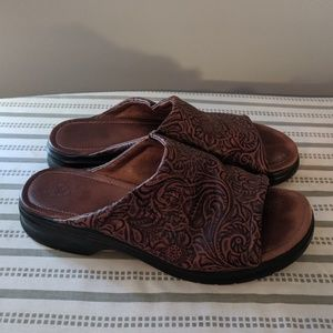 Ariat leather slides brown/black